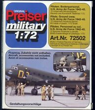 1:72 scale Preiser Unpainted Us Air Corp Wwii Figures 72502