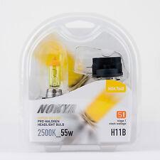 H11B Headlight Bulbs Nokya Hyper Yellow 2500K 55W (Stage 1) 1 PAIR NOK7648