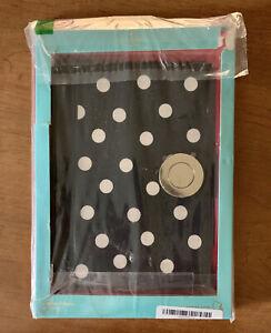 Kate Spade New York Hard Case Magnet Folio iPad Air 2 Black W/ White polka dots