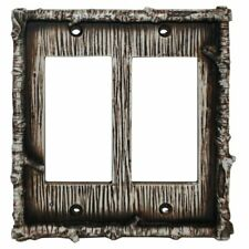 Birch Bark Rocker Double Switch Plate