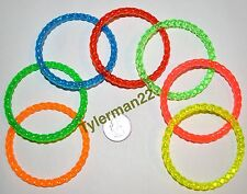 12 HARD PLASTIC RINGS BIRD PARROT FOOT TOYS PARTS 2.75""