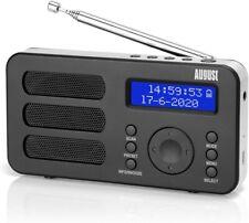 August MB225 - Tragbares DAB+ FM Digitalradio mit Akku LCD Kopfhöreranschluss