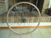 COMPLETE RACING WHEEL CAMPAGNOLO RECORD REAR HUB HIGH FLANGES MAVIC RIM