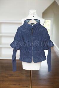 Brunello Cucinelli 100% Cashmere Cardigan Jacket blue size S