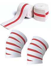 """Knee Wraps Peso Sollevamento Bandage cinghie GUARD PADS Powerlifting 73 """" -78 COPPIA"""