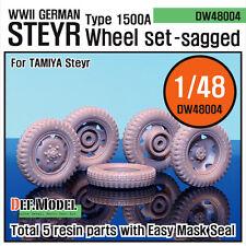 DEF.MODEL, WW2 German Steyr Type 1500A Sagged Wheel set (Tamiya 1/48), DW48004