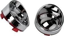 Chrome Mirror Red Turn Signal Lens Lenses & Visor for Harley Sportster Softail