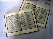 rare facsimile pentateuch codex hileli judaica bible Hebrew Manuscript 2 volumes