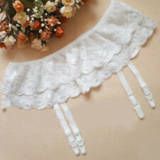 Women Sexy Lace Mesh Garter Belts Suits Double Layer Charming Wear Adult Sex Toy