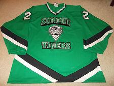 VTG-1990s Summit Tigers High School Game Worn/Used Hockey Jersey