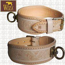 WOZA Premium Lederhalsband Schweißhalsung Vollleder Rindleder Hunting Collar AG1