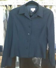 BCBG Max Azria Women's Jacket Size 6 Button Front Black Color Jacket Made in USA
