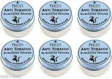 6 x Prices Anti Tobacco Candle in Tin Eliminates Tobacco and Smoking Odours