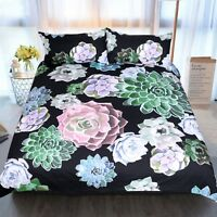 3D Succulent Plants 41 Bed Pillowcases Quilt Duvet Cover Set Single Queen CA