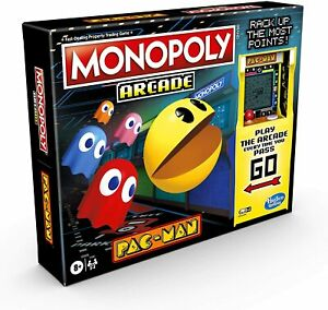 Monopoly Arcade Pacman Board Game Hasbro - Includes Banking and Arcade Unit NEW