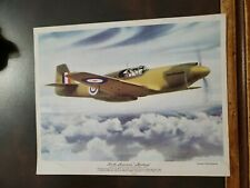 Vntg WW2 Flying Magazine Poster Insert Premium 8x10 North American Mustang