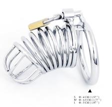 Cage de chasteté métallique avec anneaux et cadena (version S : 40 mm)