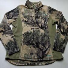 Cabela's Womens Fleece Sweatshirt sz L OutfitHer Camo Pullover Outdoors Hunt K79