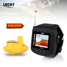 Watch Type Sonar Fish Finder Wireless Rechargeable 60M/200ft Range  High Contras