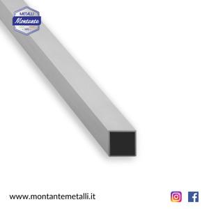 Profilo Tubo Quadro Quadrato in Alluminio Da 10 a 80 mm in Diverse Dimensioni