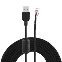 2m Mouse Mice USB Nylon Braided Cable Line Wire For Logitech G500s Game Mouse