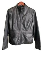 KENNETH COLE REACTION Women's 100% Leather Jacket full zip Pockets lined Size/M