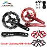 Aluminum Crankset for MTB Bike 104BCD 7/8/9/10Speed Crank 32-42T Chainring 170mm