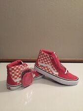 New Vans SK8 HI Pro Skate Shoes Checkerboard Desert Rose | Sizes: Men's 10 & 9.5