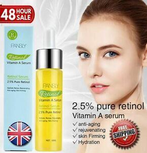 Retinol 2.5% Vitamin A Face Serum Anti Aging Wrinkles Collagen Acne Liquid 30ML