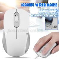 Cableado USB Ratón Óptico Para Portátil PC Mac Ordenador Scroll Rueda 1000DPI