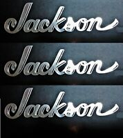 Jackson Guitar INVERTED Headstock Die-Cut Decal OEM, 0.2% SILVER, QTY x1