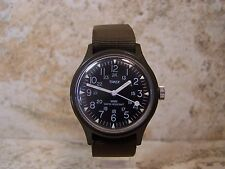 Vintage Timex Camper 12/24 Hour Dial Military Style Watch....Very Nice & Running
