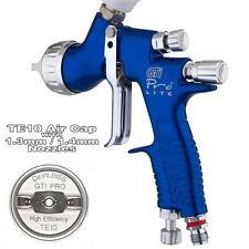 Devilbiss GTi Prolite Azul TE10 disolvente/Waterbase Spray Gun 1.3/1.4mm Punta