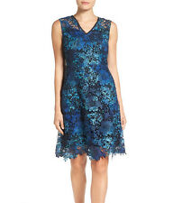 NWT $168 T Tahari ELORA Floral lace dress sleeveless A-line size 8 GORGEOUS