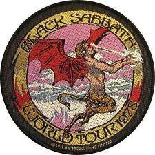 """BLACK Sabbath ricamate/Patch # 23 """"World Tour 1978"""" - 9cm"""