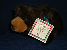 """6.5"""" Russ fully jointed plush Woodland Winter Brown Bear w/Tag"""