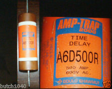 New A6D500R TRAP FUSE by GOULD / SHAWMUT 500A FUSE 600VDC TIME DELAYED