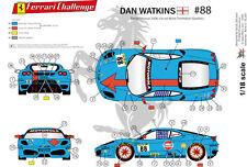 "[FFSMC Productions] Decals 1/18 Ferrari F-430 Challenge ""Gulf"" de Don Watkins"
