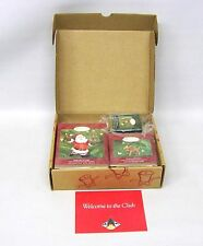 2000 Hallmark Membership Kit With Three Collector's Club Keepsake Ornament