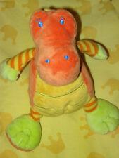 ADORABLE DOUDOU CROCODILE jaune orange NICOTOY TBE !!