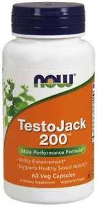 NOW Foods Testojack 200 60 Vcaps Tongkat Ali Maca Root Tribulus Terrestris 10/23