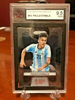 2018 Panini Prizm World Cup Paulo Dybala Base - KSA Graded 9.5 NGM