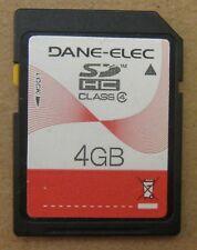 Dane-Elec 4 GB SD HC SDHC Class 4 SD-K04G Memory Card 4GB Japan Made USA Seller
