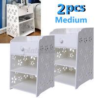 2x Bedroom Nightstand Table Rack Bedside Cabinet Drawer Home Organizer Shelving