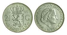 pcc1234_4) Olanda Juliana gulden 2 1/2 1966 Silver AR