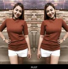 Belle Turtleneck Knitted Top (Rust)