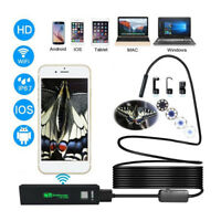 For Android iPhone WIFI Endoscope Waterproof Borescope Inspection Camera 8 A!A!