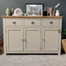 Grey Oak Large Sideboard / Painted / Dresser / Living Room / Brand New / Sussex