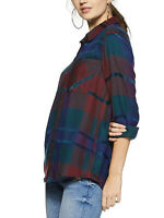 £25 NEW M&S Supersoft Designer Printed Check Flannel Long Sleeve Shirt Plus Size
