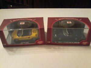"""Lotto Modellini 2 Maxi Car 1:43 Alfa Romeo Spider""""1966""""eToyota MR2 in scatola."""